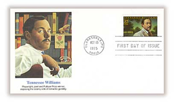 3002 / 32c Tennessee Williams : Playwright 1995 Fleetwood FDC