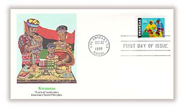 3175 / 32c Kwanzaa Holiday Celebration 1997 Fleetwood FDC