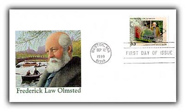 3338 / 33c Frederick Law Olmsted  Landscape Architect 1999 Fleetwood FDC