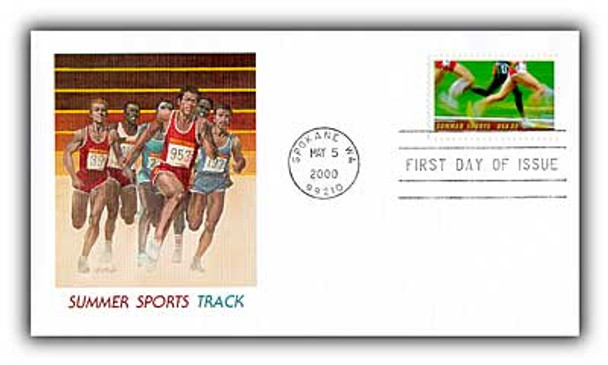 3397 / 33c Summer Sports : Track 2000 Fleetwood First Day Cover