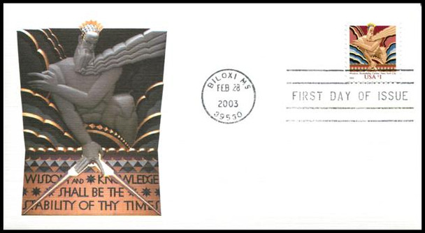 3766 / $1 Wisdom 2003 Fleetwood First Day Cover