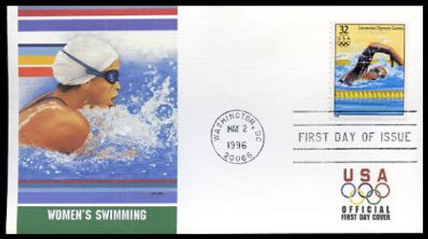 3068a-t / 32c Atlanta '96 Summer Olympics Set of 20 Fleetwood 1996 FDCs