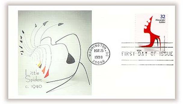 3198 - 3202 / 32c Alexander Calder, Sculptor Set of 5 Fleetwood 1998 FDCs