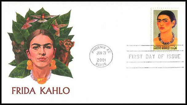 3509 / 34c Frida Kahlo - Painter 2001 Fleetwood First Day Cover