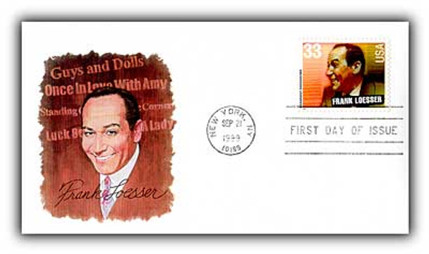 3345 -3350 / 33c Broadway Songwriters 1999 Set of 6 Fleetwood FDCs