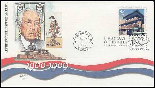 3182a-o / 32c Celebrate The Century ( CTC ) 1900s Set of 15 Fleetwood 1998 First Day Covers
