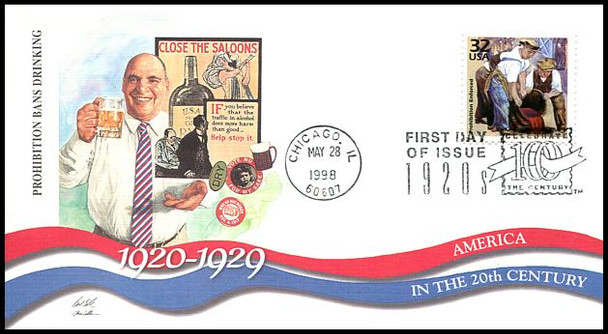 3184a-o / 32c Celebrate The Century ( CTC ) 1920s Set of 15 Fleetwood 1998 First Day Covers