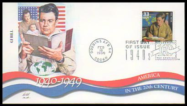 3186a-o / 33c Celebrate The Century ( CTC ) 1940s Set of 15 Fleetwood 1999 First Day Covers