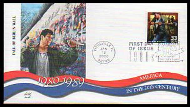 3190a-o 33c Celebrate The Century ( CTC ) 1980s Set of 15 Fleetwood 2000 FDCs