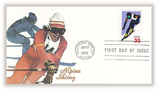 3180 / 32c Alpine Skiing 1998 Fleetwood First Day Cover