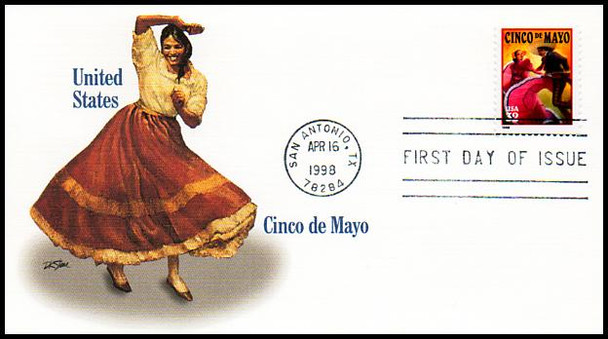3203 / 32c Cinco de Mayo Celebration 1998 Fleetwood First Day Cover