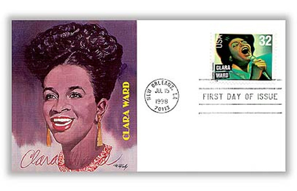 3216 - 3219 / 32c Gospel Singers Set of 4 Fleetwood 1998 First Day Covers