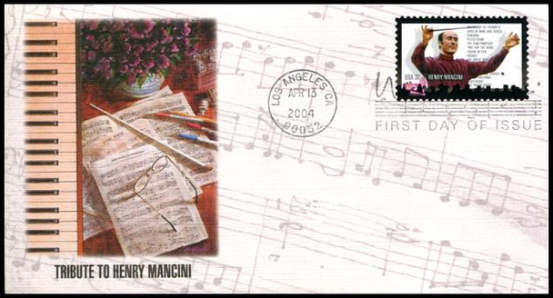 3839 / 37c Henry Mancini - Pink Panther 2004 Fleetwood FDC