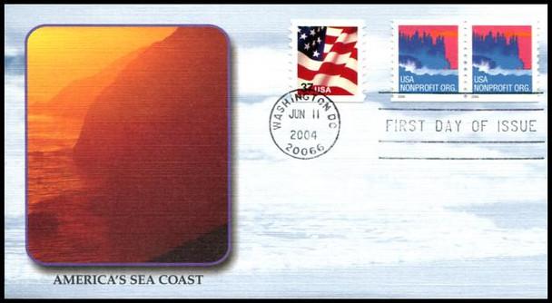 3864 / Non-Denominated (5c) Sea Coast PSA Coil 2004 Fleetwood FDC