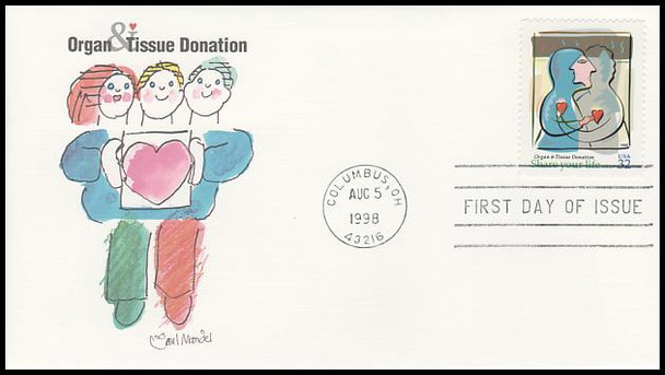 3227 / 32c Organ and Tissue Donation PSA 1998 Fleetwood FDC