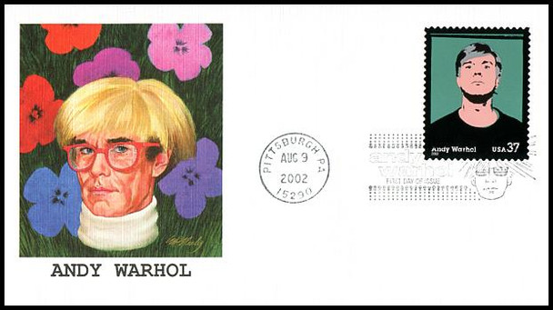 3652 / 37c Andy Warhol : Artist 2002 Fleetwood First Day Cover
