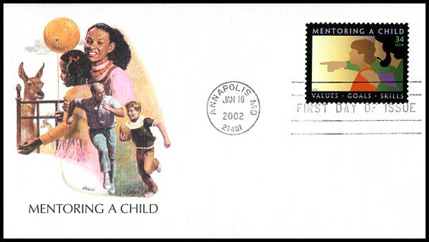 3556 / 34c Mentoring a Child 2002 Fleetwood First Day Cover