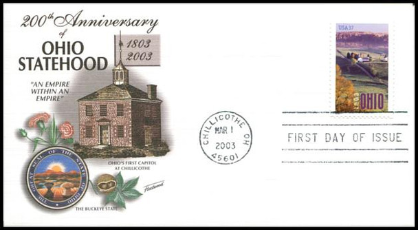 3773 / 37c Ohio Statehood 200th Anniversary : Statehood Series 2003 Fleetwood First Day Cover