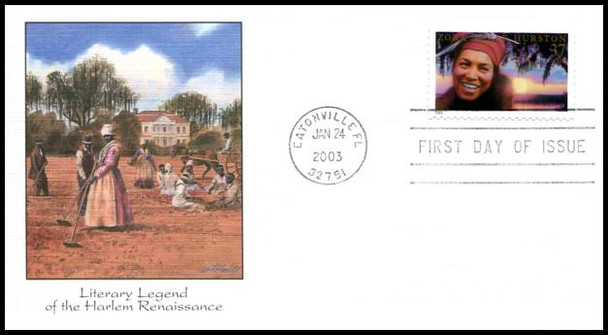 3748 / 37c Zora Neale Hurston : Literary Arts Series 2003 Fleetwood First Day Cover