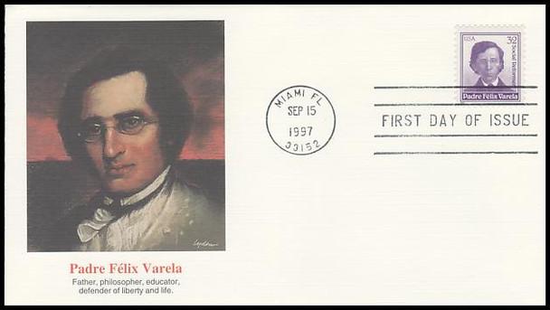 3166 / 32c Padre Felix Varela 1997 Fleetwood FDC