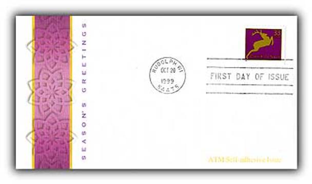 3364 - 3367 / 33c Holiday Deer ATM PSA Set of 4 Fleetwood 1999 FDCs