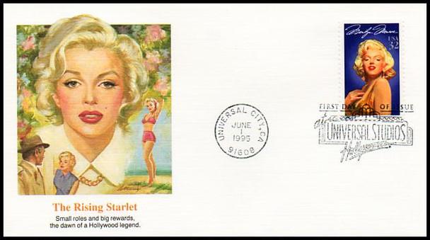 2967 / 32c Marilyn Monroe Set of 5 Different Cachets 1995 Fleetwood FDCs