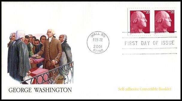 3482 - 3483 / 20c George Washington Set of 2 Fleetwood 2001 FDCs