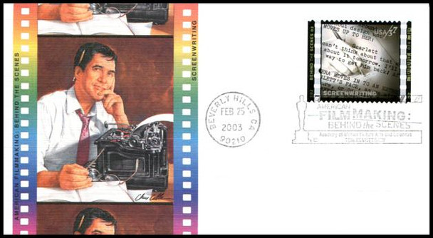 3772 a - j / 37c American Filmmaking Behind the Scenes Set of 10 Fleetwood 2003 First Day Covers