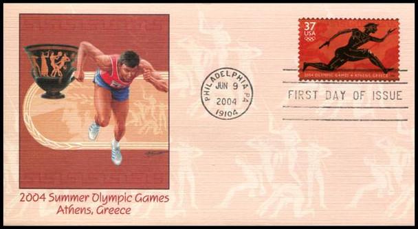 3863 / 37c Summer Olympic Games PSA 2004 Fleetwood FDC