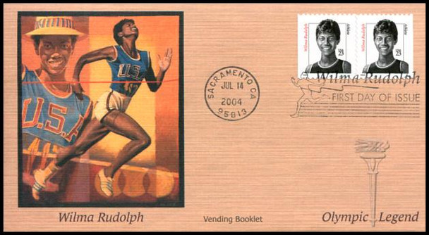 3422 / 3436 / 3436v / 23c Wilma Rudolph PSA / Convertible and Vending Booklet Pairs Set of 3 Fleetwood 2004 FDCs