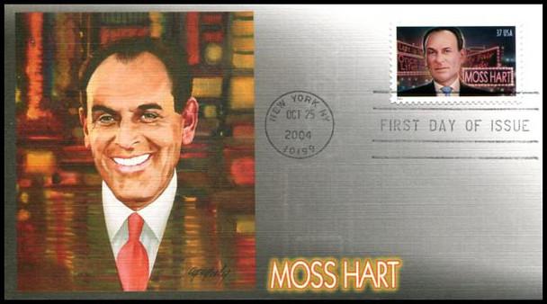 3882 / 37c Moss Hart PSA : 2004 Fleetwood FDC