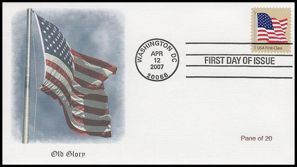 4129 - 4135 / 41c Non-Denominated US Flag Set of 7 Fleetwood 2007 FDCs