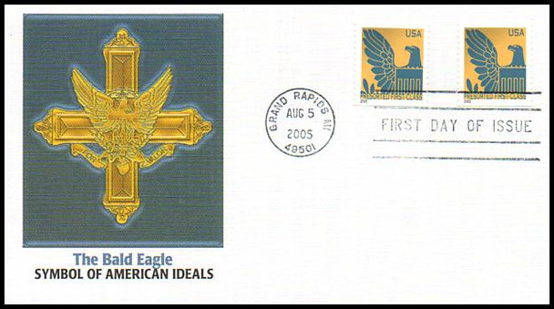 3792a - 3801b / Non-Denominated (25c) Presorted Eagle PSA Coil Set of 10 Fleetwood 2005 First Day Covers