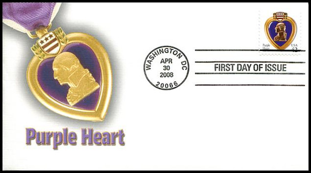 4264 / 42c Purple Heart Fleetwood 2008 First Day Cover