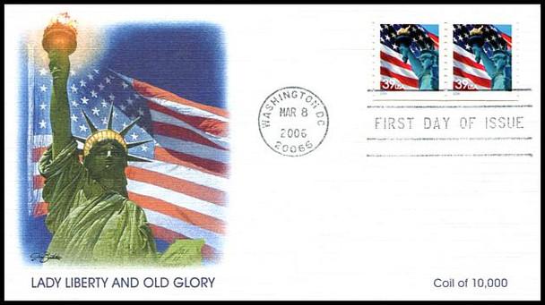3979 / 39c Statue of Liberty and Flag Set of 3 Variations 2006 Fleetwood FDCs