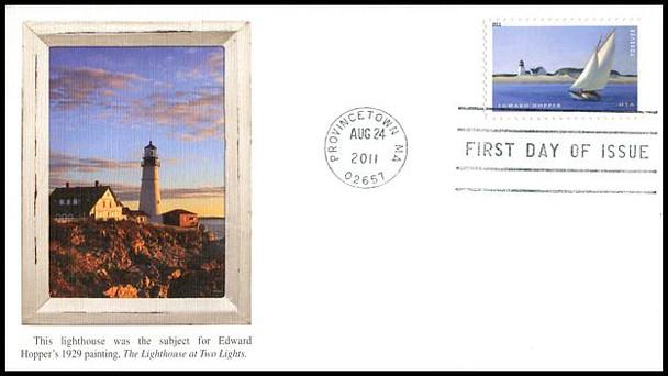 4558 / 44c Edward Hopper : American Treasures Series 2011 Fleetwood FDC