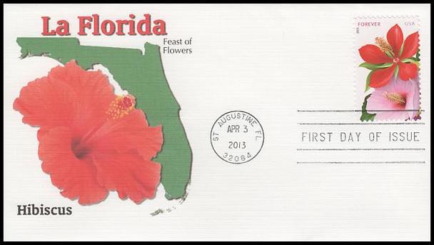 4750 - 4753 / 46c La Florida Set of 4 Fleetwood 2013 FDCs