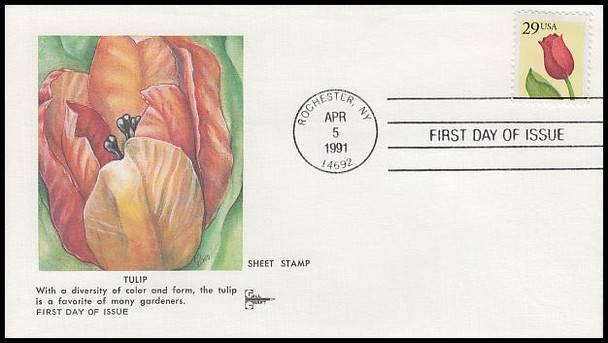 2524 / 29c Tulip Gill Craft 1991 First Day Cover