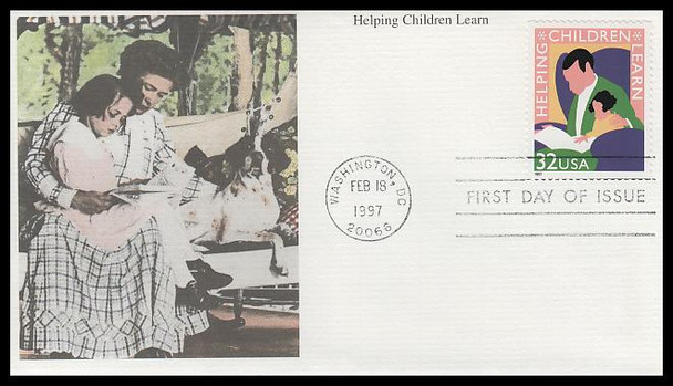 3125 / 32c Helping Children Learn PSA 1997 Mystic First Day Cover
