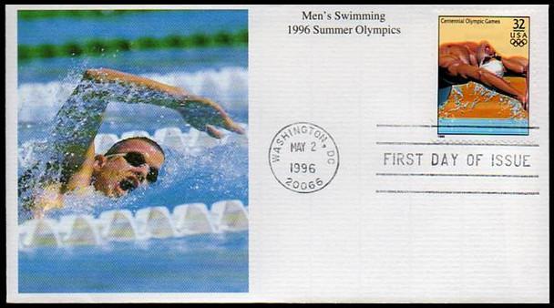 3068a-t / 32c Atlanta '96 Summer Olympics Set of 20 Mystic 1996 FDCs