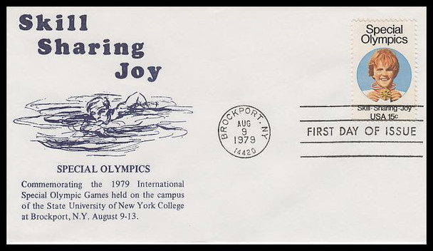 1788 / 15c Special Olympics 1979 K.M.C. Venture FDC