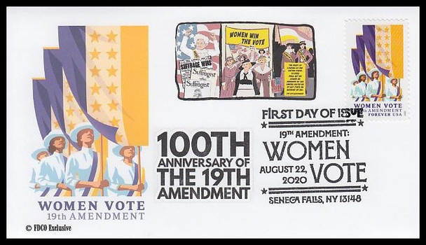5523 / 55c 19th Amendment: Women Vote 2020 FDCO Exclusive First Day Cover