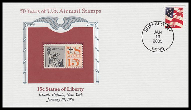 C63 / 15c Statue of Liberty PCS Commemorative Cover 2005 and Info Card