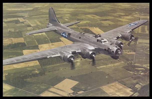 """B-17 Flying Fortress Modern Colorized WWII 4"""" x 6"""" Collectible Postcard"""