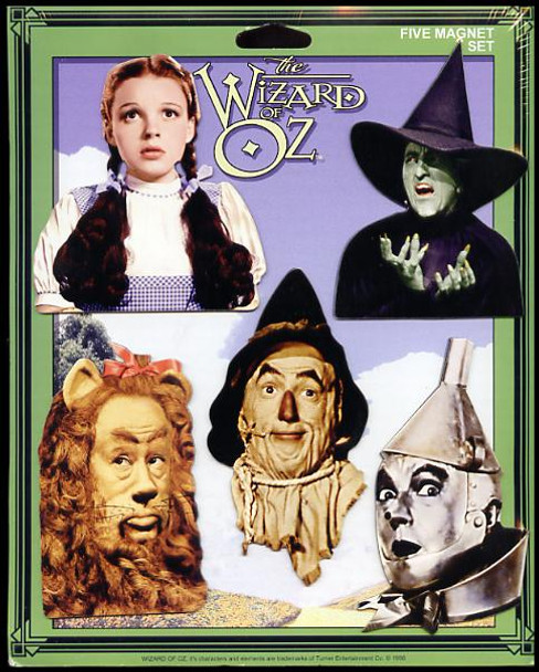 Wizard of Oz 5 Piece Fridge Magnet Set