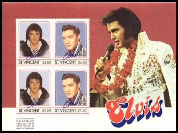 Elvis Presley Set of 8 Stamps and 4 Souvenir Sheets from St Vincent
