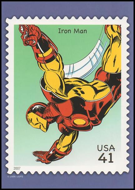 Iron Man Marvel Comics Super Heroes Stamp Collectible Jumbo Postcard