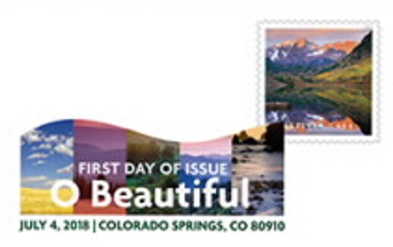 O Beautiful Stamps Digital Color Pictorial Postmark