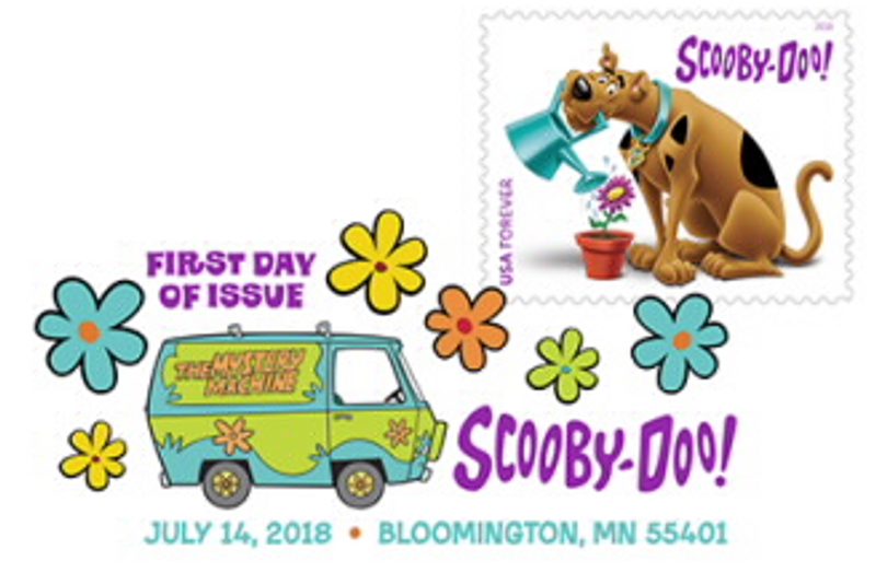 Scooby-Doo, Where Are You? Stamp Digital Color Pictorial Postmark