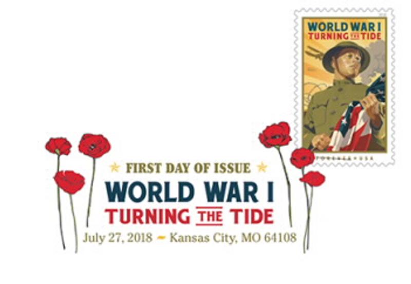 World War I: Turning the Tide Stamp Digital Color Pictorial Postmark